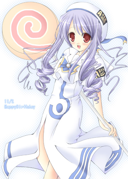 Aria from Sister Princess cosplaying as Akari from Aria