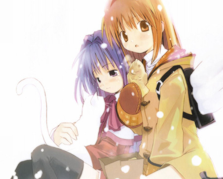 Ayu & Nayuki from Kanon looking sad.